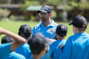 group cricket coach in session